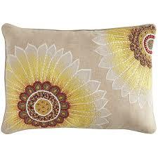 beaded sunflower lumbar pillow pier 1 imports