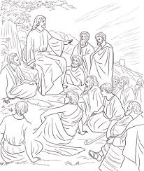Click To See Printable Version Of Jesus Teaching People Coloring Page