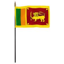 Sri Lanka Flag 4 X 6 Inch