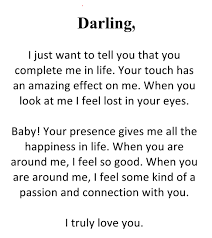Romantic love letters him darling letter for although