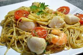 pates aux noix de jacques recette de spaghetti aux noix de st jacques et crevettes