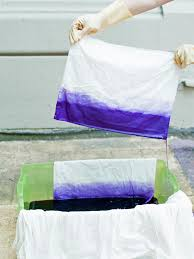 Blue Tie Dye Bedding by How To Ombre Dip Dye A Duvet Cover Hgtv