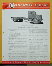 1957 Brockway Trucks Model 128WX Specification Sheet | EBay Brockway Trucks Dealer Sales Sign Vinyl Banner Shop Art Mural Large Brockway Wrecker Walk Around Page 1 Heavy Duty Trucks Antique For Sale Vintage Very Rare 1960s Trucker Camo Hat Cstktec Blog Cstk Truck Equipment Car Show Classic 1957 260 The Big Noreaster Elegant 20 Photo New Cars And Wallpaper 48 Message Board View Topic Pic Of The This Weekend Offtopic Discussion Forum 1970 Model 360t Single Axle Tractor Folder