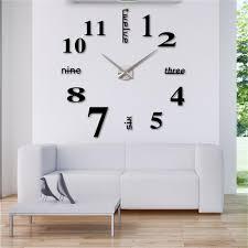 Home DecorClocksWall Clocks 3D DIY Wall Watch Mordern Horloge Mirror Clock Sticker Luxury Relogio De Parede In From