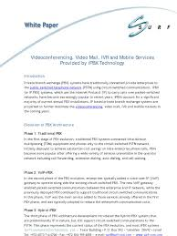 IPBX White Paper-Short Version | Voice Over Ip | Videoconferencing