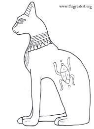 Seated Bastet Ancient Egyptian Cats A Coloring Book Coloringbook Catcoloringbook Adultcoloringbook