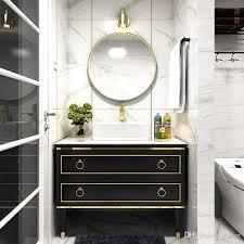 großhandel nordic licht luxus massivholz badezimmerschrank moderne minimalistisches badezimmer waschbecken waschbecken schrankkombination bad