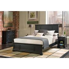 Queen Size Bed In A Bag Sets by Home Styles Bedford Black Queen Bed Frame 5531 500 The Home Depot