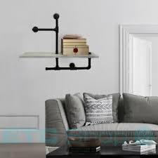 details zu retro mdf wandregal metallrohre betonfolie wohnzimmer dekoration bücherablage