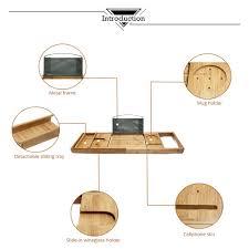 Bamboo Bathtub Caddy With Wine Glass Holder by Aliexpress Com Buy 100 Natural Bamboo Bathtub Caddy Tray