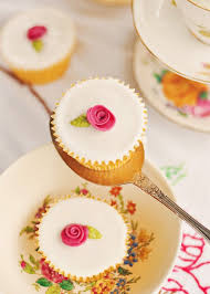 Fairy Cakes With Little Roses On Top
