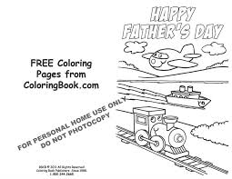Free Online Coloring Pages Fathers Day Card