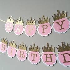 Pink And Gold Birthday Themes by Sale Pink And Gold First Birthday Banner Princess Birthday