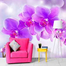 vlies fototapete blumen orchidee lila rosa tapete wandbilder
