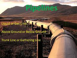 1 Liquid Or Gas Lines Above Ground Below Trunk Line Gathering Pipelines