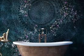 tapete im badezimmer alternative zu putz und fliesen