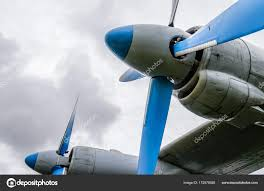 100 Airplane Wing Parts Engine With Propeller Parts Of Aircraft Fuselage Stock