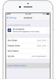 Import contacts from your SIM card to your iPhone Apple Support