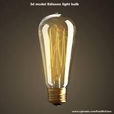 3d model vintage antique light bulb cgtrader