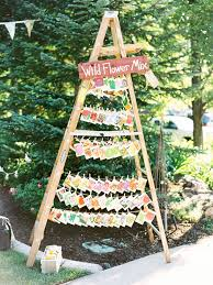 Rustic Wedding Decor Ideas To Display Favors On Vintage Ladders