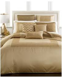 Surprise  f Hotel Collection Mosaic King Duvet Cover Gold