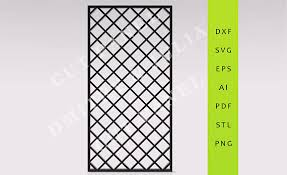 fizzi privacy screen dxf svg eps ready to cut file cnc template