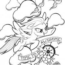 Coloring Pages My Little Pony Rainbow Dash New Edge
