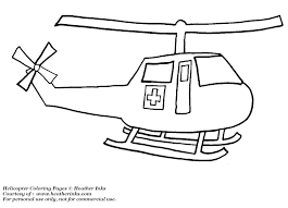Rescue Helicopter Coloring Page Printable