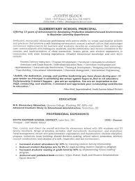 Administrator Principals Resume Sample