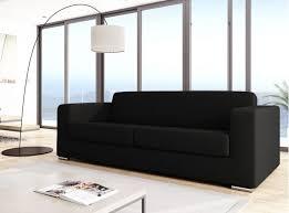 canapé design canapé design 3 places en tissu gris foncé