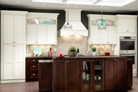 american woodmark white shaker style cabinets for the kitchen in