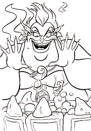 Ursula Coloring Pages Disney Pictures