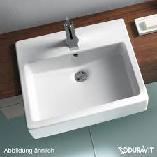duravit vero semi recessed washbasin white without tap hole