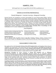 resume for accountant free senior accounting professional resume exle resumes