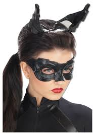 Scary Halloween Half Masks by Deluxe Catwoman Mask