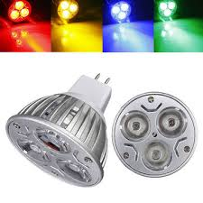 mr16 3w dc 12v 3 leds yellow blue green led spotlight bulbs