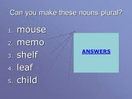 Plural and Singular Nouns ppt video online