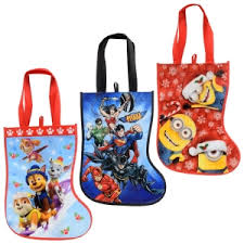 244212 Licensed Character Laminating Stocking Tote Bags