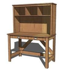 free furniture plans to build a hutch for a desk woodworking