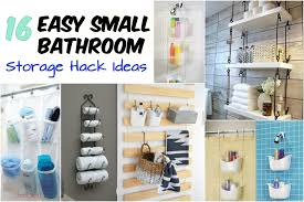 16 Easy Small Bathroom Storage Hack Ideas - Wartaku.net Elegant Storage For Small Bathroom Spaces About Home Decor Ideas Diy Towel Storage Fniture Clever Bathroom Ideas Victoriaplumcom 16 Epic Master Cabinet Aricherlife Tower Little Pink Designs 18 Genius 43 Minimalist Organization Deocom Rustic 17 Brilliant Over The Toilet Easy Hack Wartakunet