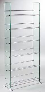 Amazon TransDeco Glass Multimedia CD DVD Rack Clear Kitchen