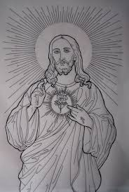 Jesus Tattoo Drawing Images Pictures