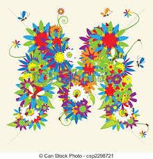 Unіquе Letter D Floral Design Stock Vector 169 Kudryashka