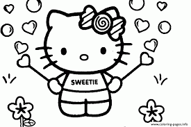 Sweet Hello Kitty Coloring Page For Girlsc1b2 Pages