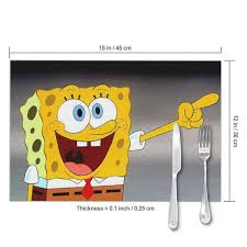 Amazon.com: LIUYAN Placemats Spongebob Laughing Placemat ...