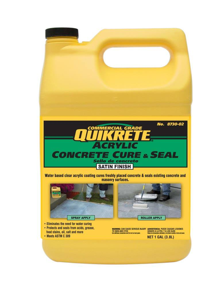 Quikrete Acrylic Concrete Cure & Seal - Satin Finish, 1gal