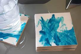 make modern tile coasters the fingerpainting edition merriment