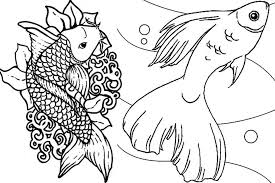 Fish Coloring Pages Adults For Panda