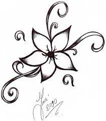flower simple drawing drawings pencil easy coloring pages