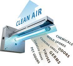 uv light air purifier iron